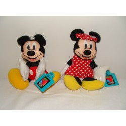 Lot of 2 Vintage Mickey Mouse & Minnie Mouse Felt Beanies