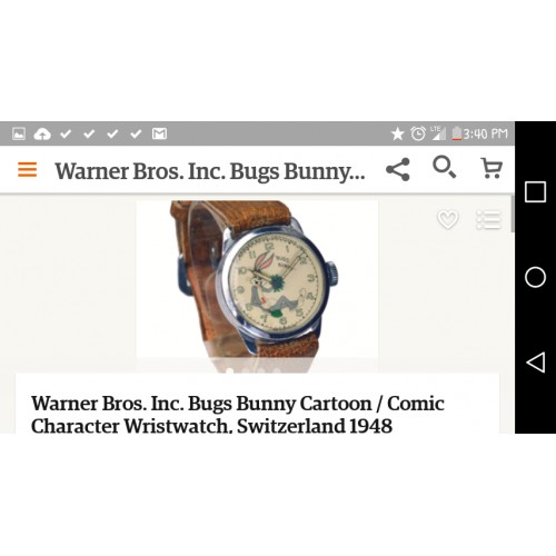 Warner Brothers Bugs Bunny watch